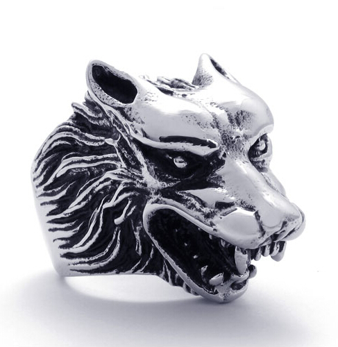 Wolf Ring—Unique Handmade Boho Chic Return of the King Retro Men Ring Male Gift Jewelry–12pcs/Lot( 3 Colors Free Choice)