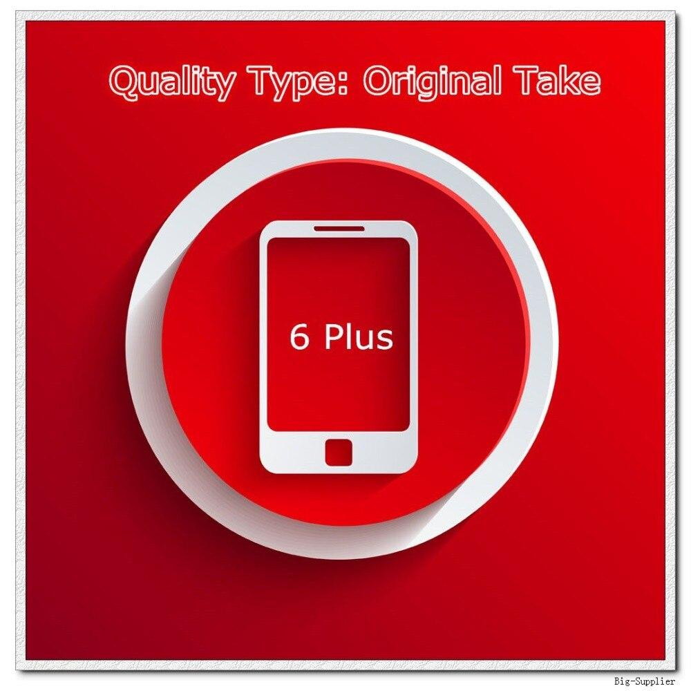 imágenes para 5 unids/lote Toma Original de Teléfono Una Calidad de Pantalla para 6 Plus Pantalla LCD Negro/Blanco