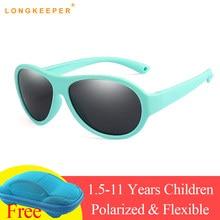 11d14b901 الاطفال مرنة الطيار الأطفال الطفل نظارات شمسية لينة سيليكون الإطار 100%  الأشعة فوق البنفسجية حماية الطفل مرآة الطفل نظارات Gafas