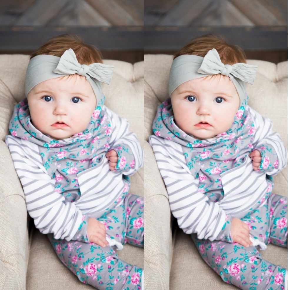 Baby Clothing Set Baby Girls Clothes Hooded Tops Pants Baby Gilrs Floral Clothes Winter Long Sleeve Outfits 2Pcs Set girls baby long sleeve tops t shirt bib cartoon minnie 2pcs outfits set 1 5y