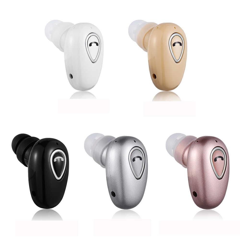 Nowy Mini bezprzewodowy zestaw słuchawkowy bluetooth douszny sport Stereo douszne słuchawki douszne z mikrofonem rozmowa bez użycia rąk dla iphone Huawei Xiaomi
