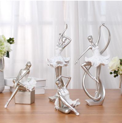 Ballerina statue, creative arts and crafts, figure statue, resin home furnishing articles