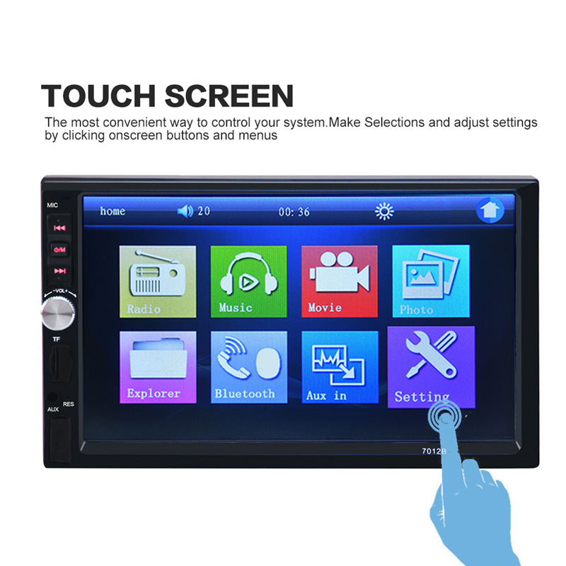 ФОТО 7 inch Bluetooth Car MP4 MP5 Player 12V HD Touch Screen Support Rear View Camera Handsfree TFT Car Audio Video FM USB SF AUX IN