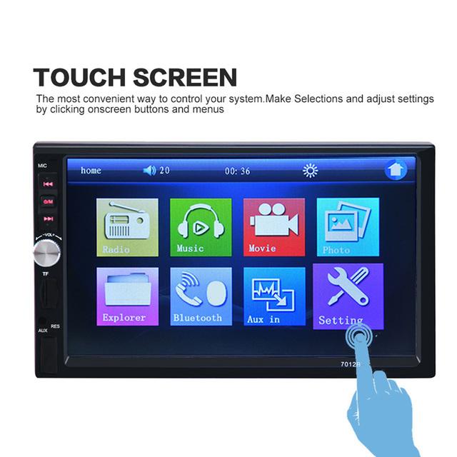 7 polegada MP4 MP5 Player Do Carro Do Bluetooth 12 V HD Tela Sensível Ao Toque de Apoio Câmera de Visão traseira Kit Mãos Livres Do Carro TFT SF FM USB AUX de Áudio e Vídeo EM
