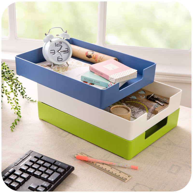1PC Multifunctional Plastic Desktop Storage Box Living Room Remote Control Cosmetics Storage Box Office Finishing Box OK 0541