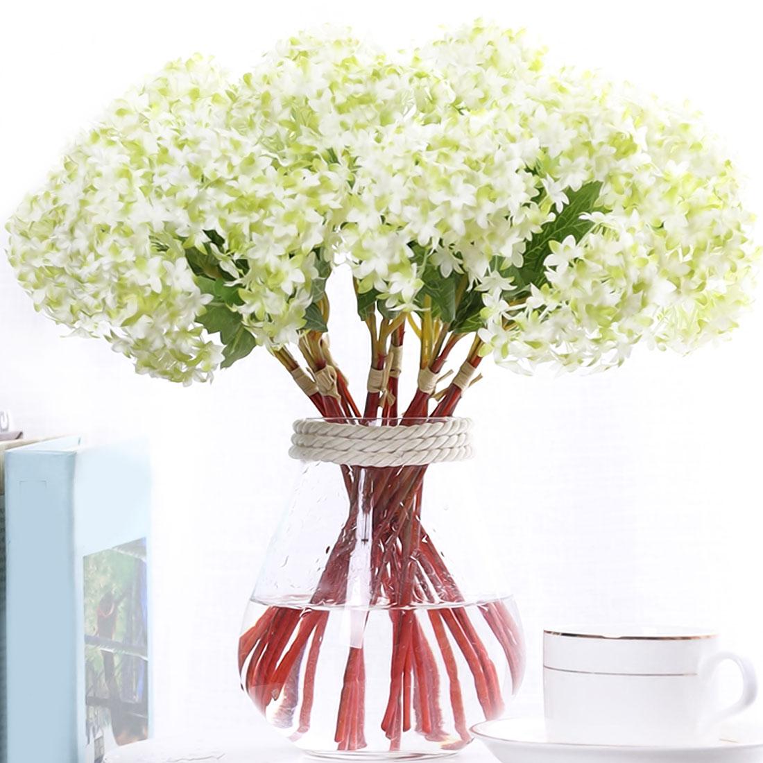 12 шт./лот декоративный цветок для свадьбы Искусственный Гортензия Шелковый DIY свадебные украшения, искусственные цветы