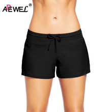 ADEWEL  Summer Hot Bodycon Bandage Elastic Shorts Micro Mini Quick Drying Sexy Women Pluz Size S-3XL