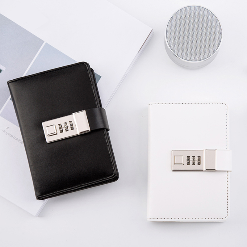 Creative A7 Pocket Writing Pads With Lock Password Simple Mini Diary Notebook Lockable Sketchbook School Traveler Supplies