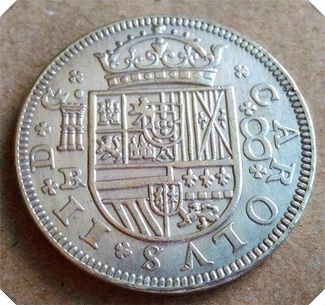 1683 Br Spanien 8 Reales Carlos Ii Kopieren Münze In 1683 Br Spanien