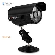 SUNLUXY CMOS Камеры ВИДЕОНАБЛЮДЕНИЯ 1000TVL ик-cut День Ночного Видения Камеры Видеонаблюдения Открытый Водонепроницаемый Система Безопасности Дома Камеры