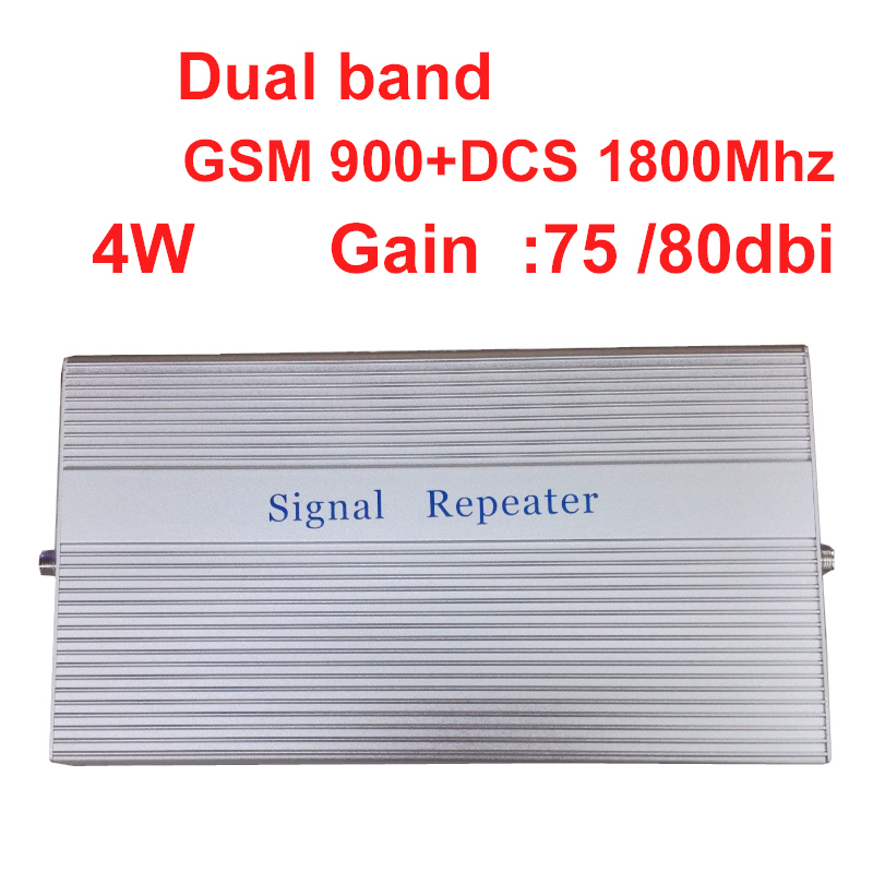 4W Work In Bad Signal Area -100dbm Repeater Gsm 900+DCS 1800Mhz Repeater Dual Band Signal Amplifer Signal Booster GSM Repeater