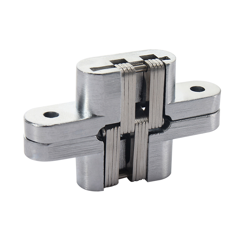 New Stainless Steel 180 Degree Concealed Hinge Invisible Concealed Cross Folding Heavy Built-in Door Hinge Furniture Hardware