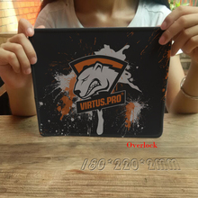 Hot Virtus Pro Overlock Rubber Mousepad Boy Gift Pad To Mouse Notebook Computer Gaming Gamer Laptop Keyboard Mice Play Mats