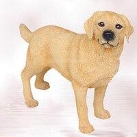 Artificielle résine Labrador Retriever chien figure, car styling accueil chambre décoration, laboratoires chien article décoratif cadeau De Noël jouet