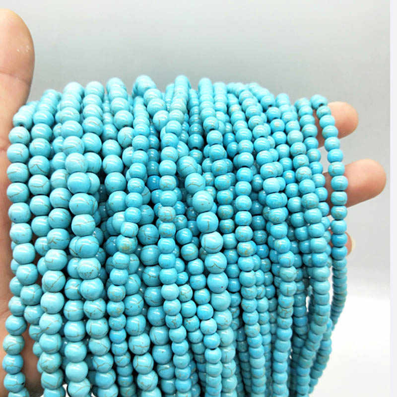 3/4/5/6/8/10/12mm 150/100/65/50/30/20pcs Hot Beads Round Green Color Space Beads For Necklace Bracelet Jewelry Making Wholesale