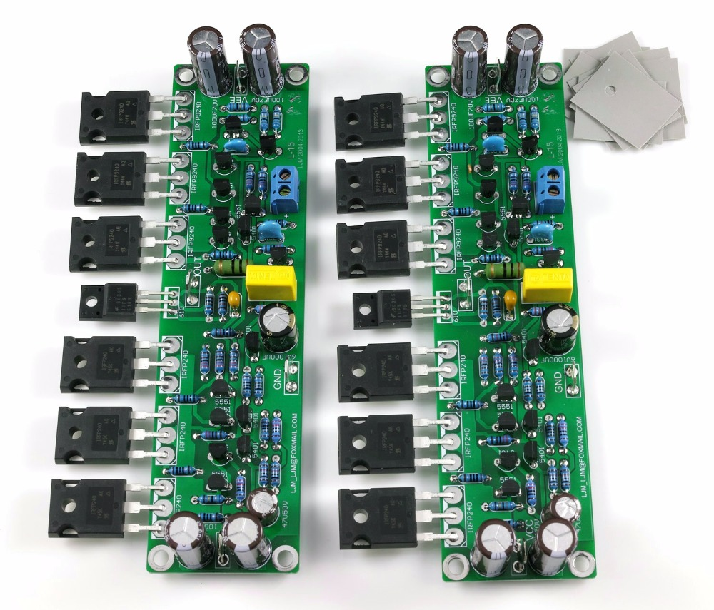 Assembled L15 MOSFET Amplifier Board 2-Channel AMP IRFP240 IRFP9240Assembled L15 MOSFET Amplifier Board 2-Channel AMP IRFP240 IRFP9240