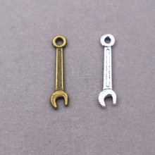 40pcs wholesale metal alloy vintage Wrench tool charms  for diy fashion jewelry 30pcs wholesale metal alloy vintage wrench tool charms for diy fashion jewelry