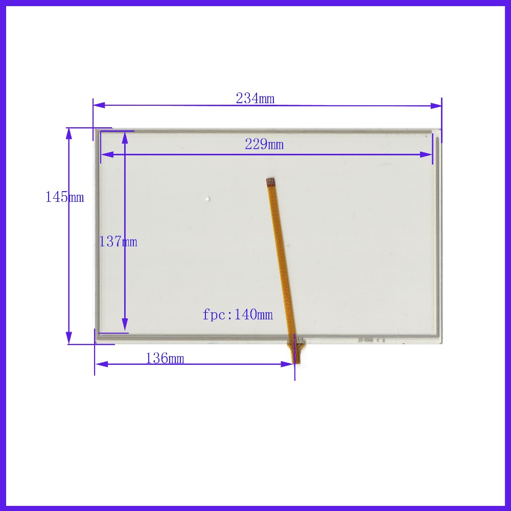 ZhiYuSun New 10.1 Inch Touch Screen 234mm*145mm for 10.1 LCD LED the GLASS is 234*145 4 lins for tble for loptop computer zhiyusun new touch screen 364mm 216mm 15 6inch glass 364 216 for table and computer commercial use
