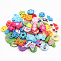 Wooden Bead 100pcs Various Shapes Multicolor Cute Wood Beads 13-30mm For Baby Toys DIY Crafts Kids Toys & Pacifier Clip