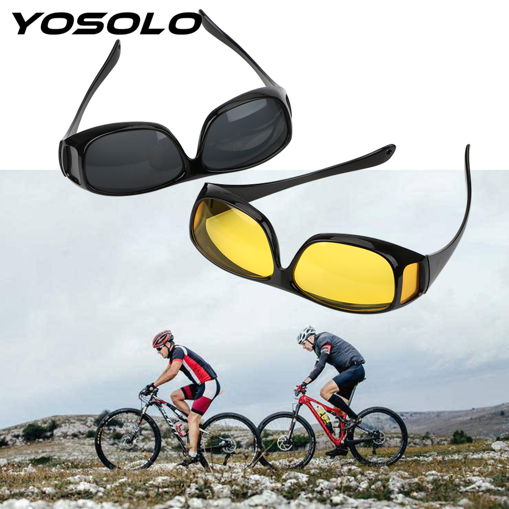 YOSOLO Car Driving Glasses Eyewear UV Protection Night Vision Goggles Sunglasses Unisex HD Vision Sun Glasses