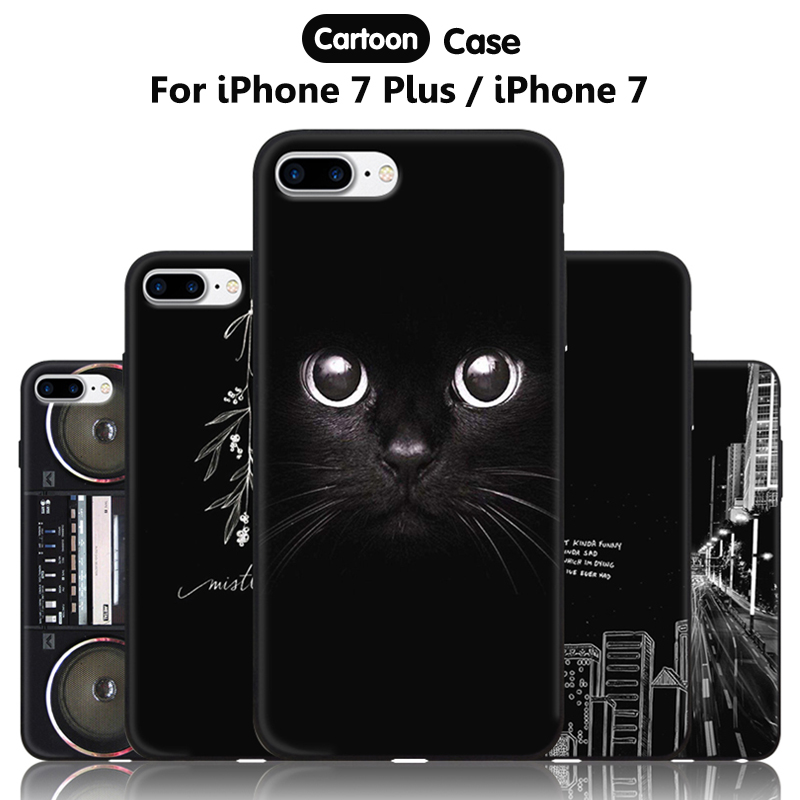 JURCHEN Phone Case For iPhone 7 Plus 7Plus iPhone7 Cover Cute Silicone For iPone 7 Plus Case Cartoon Soft 66 iPhone7Plus ihone