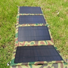 14W Foldable Solar Panel Power Bank for Phone Battery Charger Dual USB Port Solar Charger Pack Travel Emergency Charger