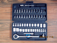 60 Pcs Socket Set 1 4 3 8 Drive Ratchet Wrench Spanner Multifunctional Combination Household Tool