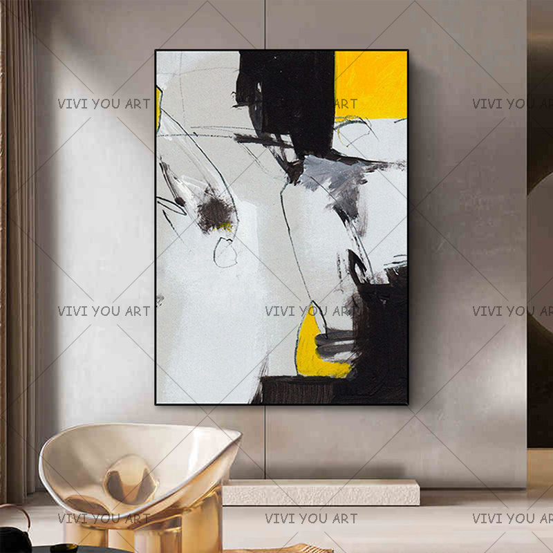 New arrival Fashion abstract oil painting Handmade on canvas wall pictures for coffee bar home Wall decoration No Frame