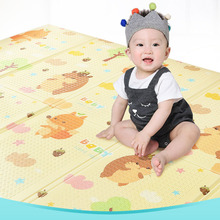 Купить с кэшбэком 2018 Children's Environmental Protection Nontoxic and Tasteless Folding Crawling Mat Soft Waterproof Easy To Clean Crawling Mat