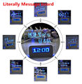 Literally Message board with blue/green USB led light Fluorescent message board with digital alarm clock lovely Christmas gift