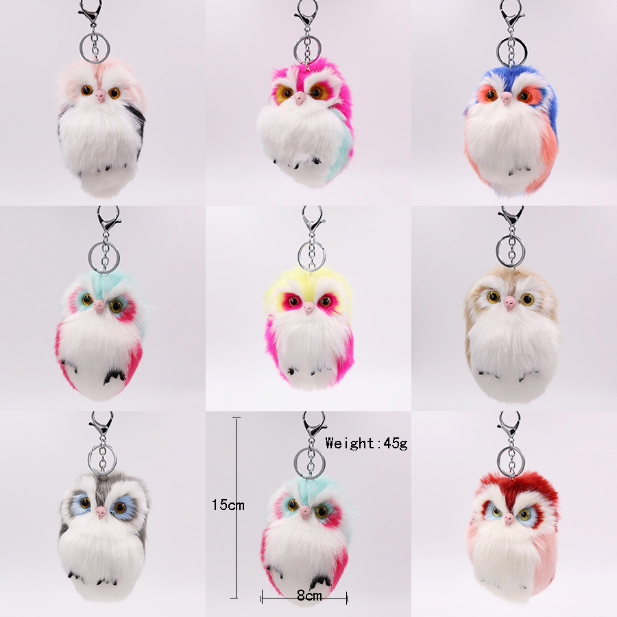 RE-Cute-Pompom-Owl-Keyrings-Keychains-Faux-Rabbit-Fur-Pompom-Fluffy-Trinkets-Car-Handbag-Pendant-Key (1)
