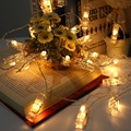 5 М 20 led клип света строки батареи Рождественские огни новый год свадьба украшения дома гирляндой батареи праздник огни