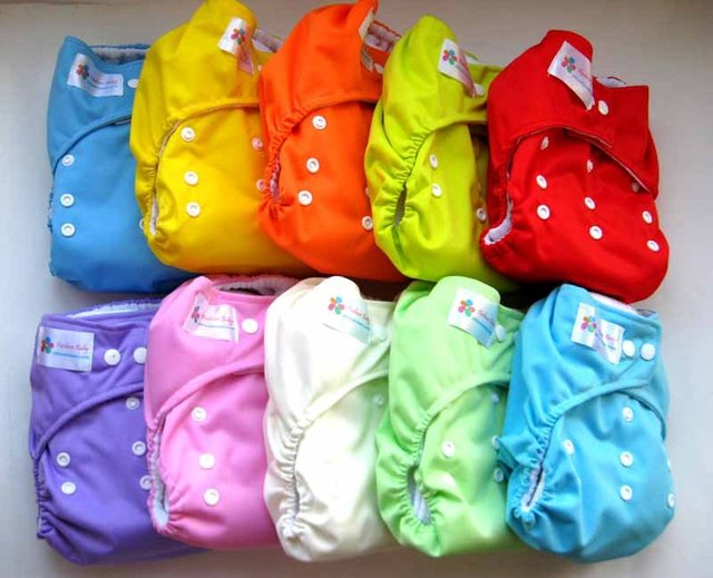 16 Fashion Baby AIO One Size Cloth Diapers with 16 Inserts