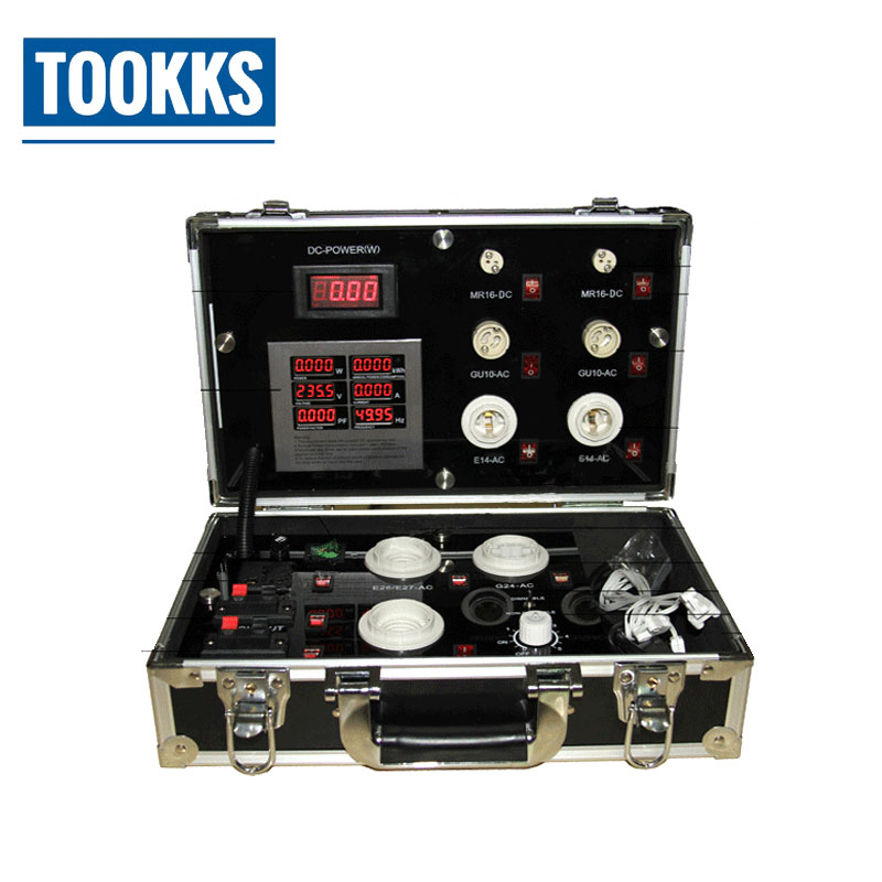 Portable 3521 7P LED Demo Case Energy Saving LED Digital Display Test Box LED Lighting Show Case-in Power Tool Sets from Tools    1