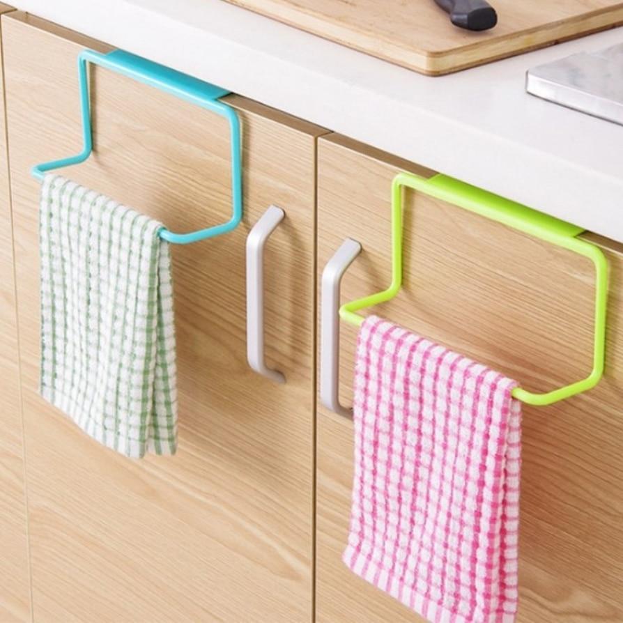 Kacuyelin Plastic Kitchen Organizer PP Kitchen Rack Space Saving Kitchen Hanger Towel Storage Organizer For Kitchen Supplies