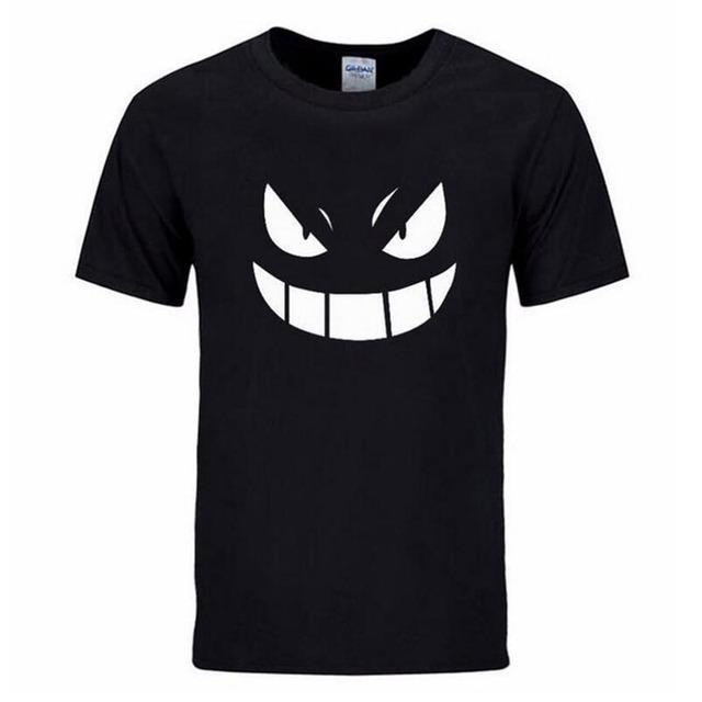Summer streetwear mma Pocket Monster Pokemon t-shirt Men hip hop casual Short Sleev Gengar Cartoon Anime tshirts man