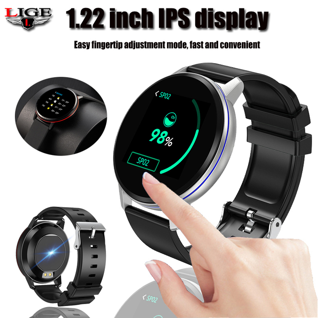 Smart Bracelet LIGE Health Monitor Heart Rate / Blood Pressure / Waterproof Pedometer Mens and Womens Watches Sports Bracelet