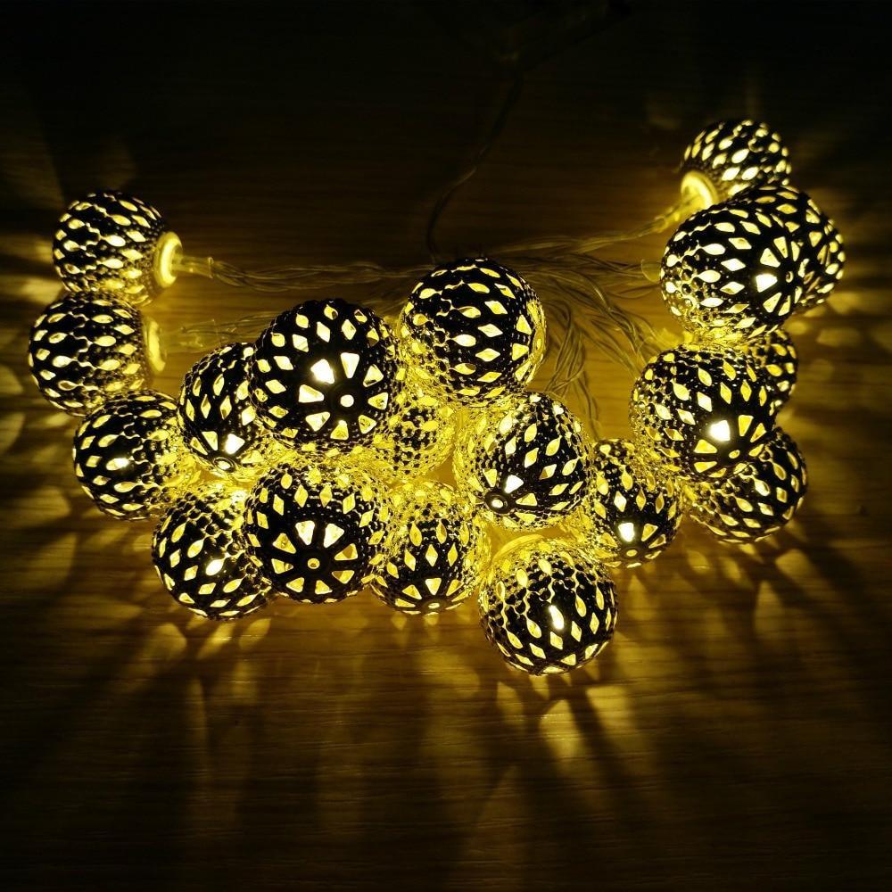 Weihnachtsbeleuchtung LED Lichtleiste 20 Lampe Kugel / Set LED Schnur - Partyartikel und Dekoration - Foto 1