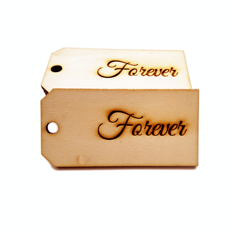 10pcs 80x40mm Forever Wood font b Favor b font Gift Bag font b Favor b font