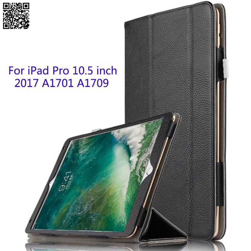 Кожаный чехол для iPad Pro 10,5 дюймов 2017 A1701 A1709 Tablet PC Smart Cover Услуга сна Стенд защитной оболочки/ подарок кожи