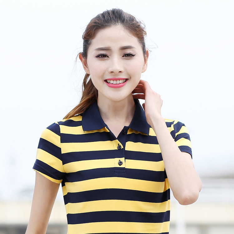 M 6XL multicolor cotton striped summer casual brand font b polo b font font b women