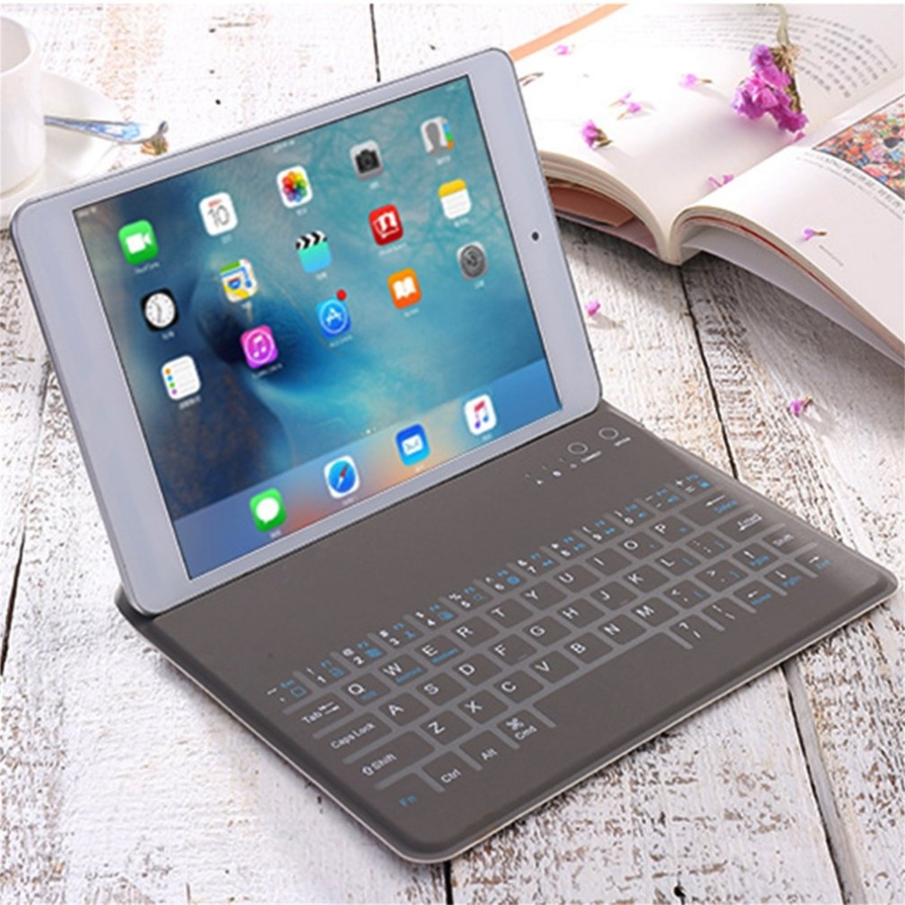Universal Ultra-thin Wireless Bluetooth Keyboard with PU Leather Protective Sleeve Case Cover For iPad AIR/AIR2 HOT 7.9 9. 7inch ultra thin wireless bluetooth keyboard pu leather case cover for ipad air 2 ipad pro 10 5 inch with bracket protective sleeve