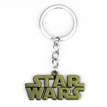 The Anime Movie Star Wars Letters Logo Alloy Keychain Key Chain Key Ring Holder Men Jewelry Accessory Christmas Gift 2 Color(China)