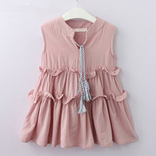 Girls Dress 2019 Brand Princess Dresses Summer Style Sleeveless Casual Cute Design for Toddler Dress Children Clothes 2018 brand autumn knitted dress for girls grey dress with lace neck kid clothes cute children dress brand princess party toddler