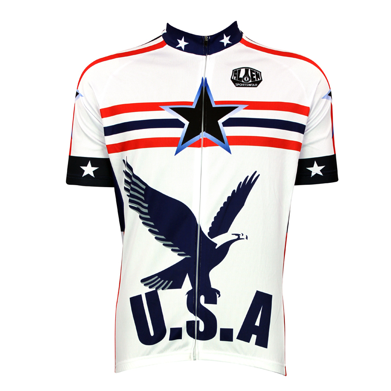New u s a global hawk cycling shirt bike equipment mens for Hawks t shirt jersey