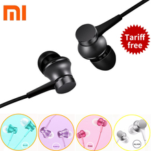 100% Original Xiaomi Piston Basic Stereo Earphone In-Ear 3.5mm with Mic Headset for Xiaomi 5 5s  Mp4 Mp3 PC for iphone 6 6s plus
