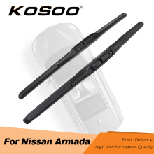 цена на KOSOO For NISSAN Armada,Fit J Hook Arm 2005 2006 2007 2008 2009 2010 2011 2012 2013 2014 2015 2016 2017 2018 Car Wiper Blades