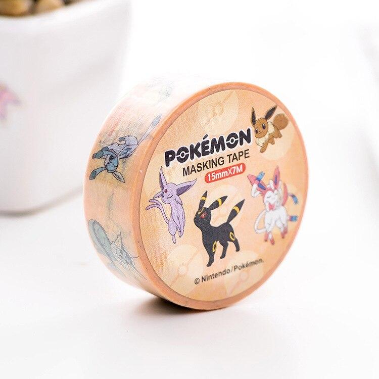 Купить с кэшбэком 1 pcs/lot Cartoon Washi Tape DIY Japanese Paper Pokemon Decorative Adhesive Tape/Masking Tape Stickers