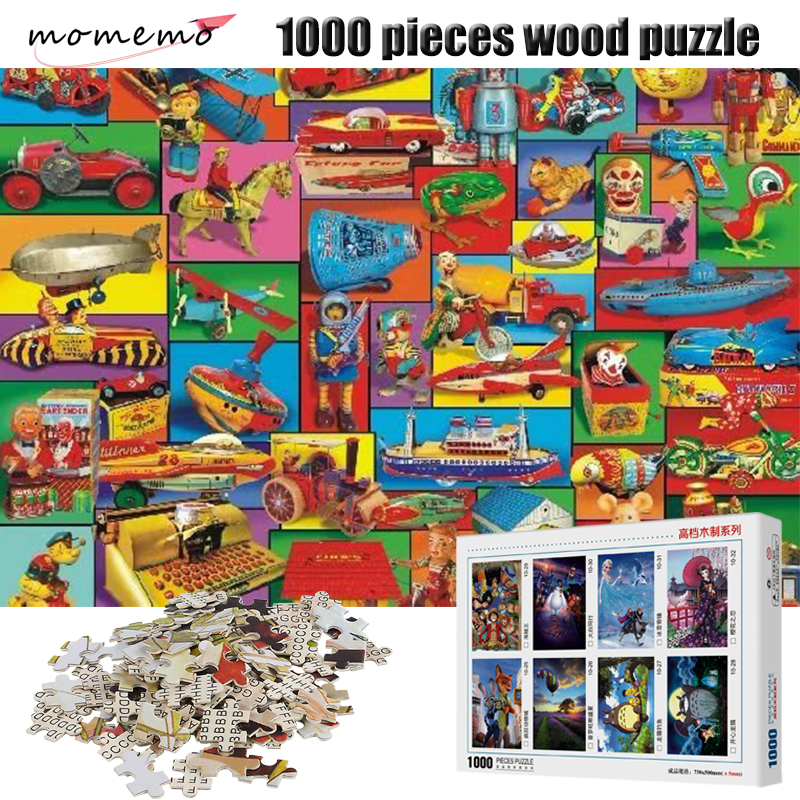 MOMEMO Childhood Toys Wooden Puzzle 1000 Pieces Puzzles for Adults Jigsaw Games Children Gifts