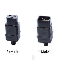PDU/UPS socket Standard IEC320 C19 C20 16A 250V AC Electrical Power Cable Cord Connector Removable plug female male Plug(China)